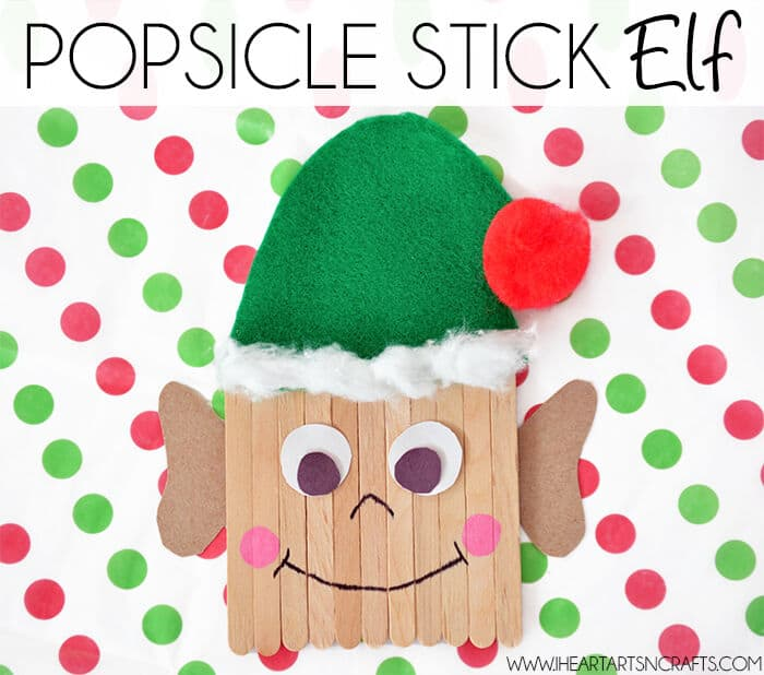 Easy DIY Popsicle Stick Elf Kids Craft by I Heart Arts n Crafts