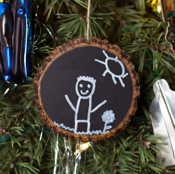 Easy Keepsake Chalkboard Ornaments by Fireflies and Mud Pies