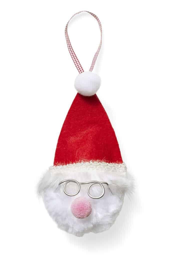 Fluffy Santa Ornament by Womans Day