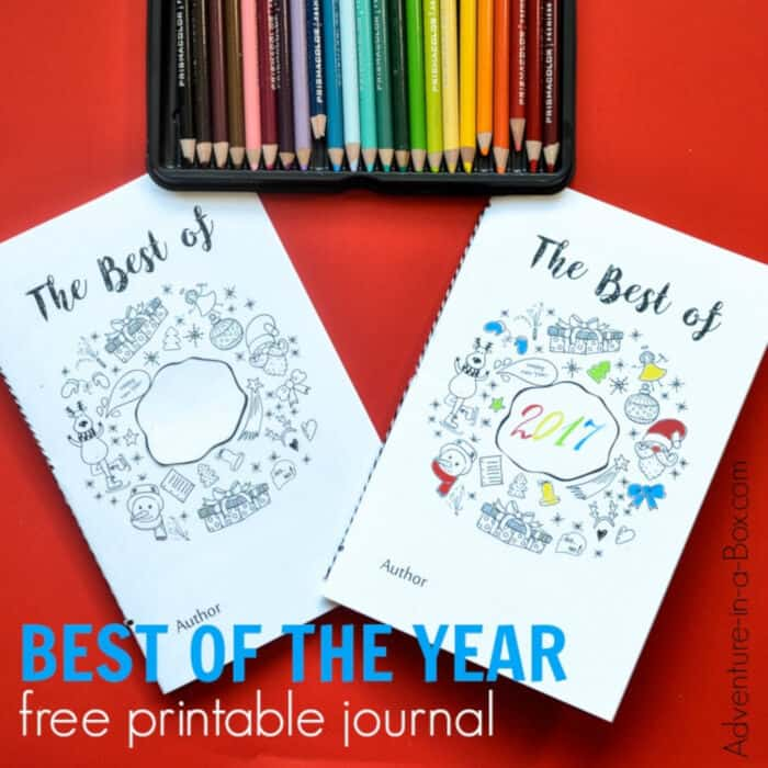 Free Printable Journal for Kids to Fill on New Years Eve by Adventure in a Box