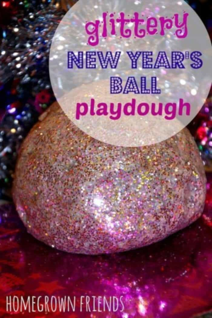 Glittery New Years Eve Playdough by Homegrown Friends
