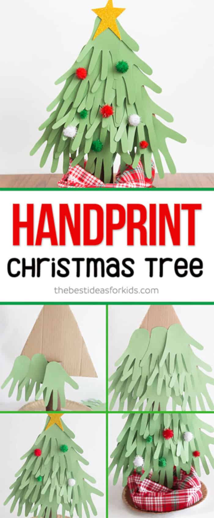 Handprint Christmas Tree by The Best Ideas for Kids