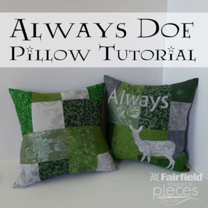 Harry Potter Always and Doe Patronus Pillows by Pieces by Polly