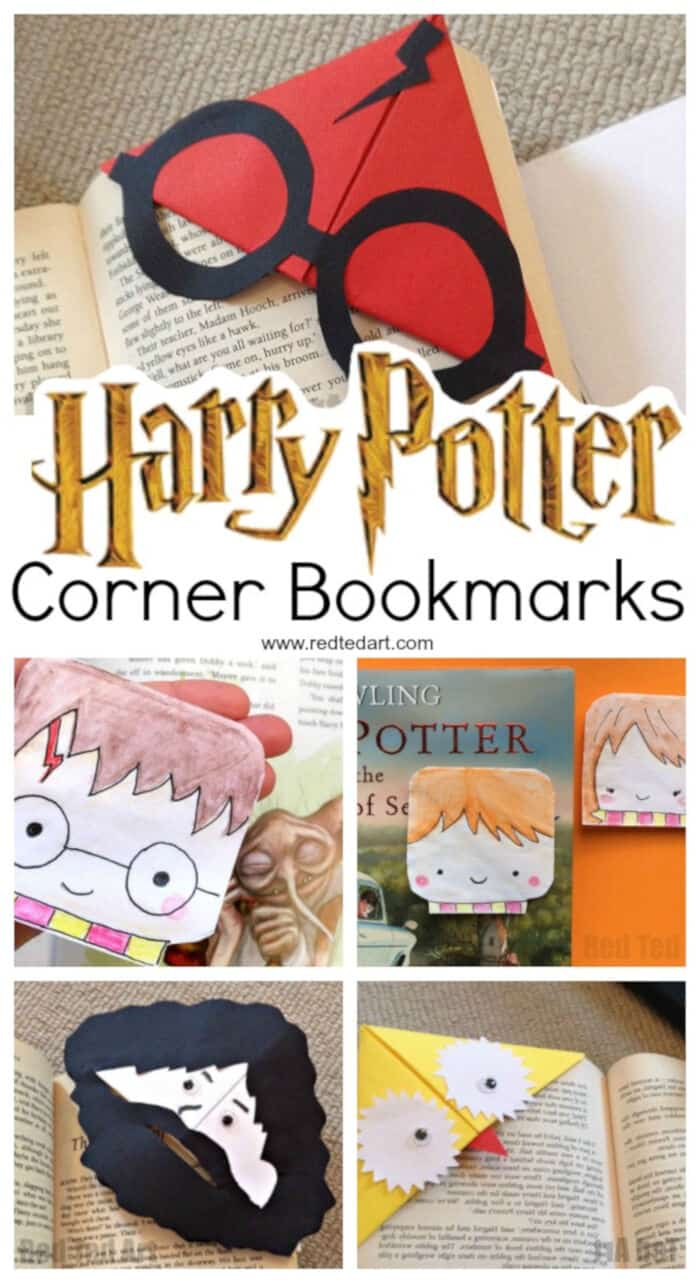 Harry Potter Corner Bookmarks by Red Ted Art