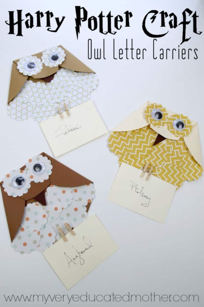 Harry Potter Craft Paper Owl Letter Carriers by My Very Educated Mother