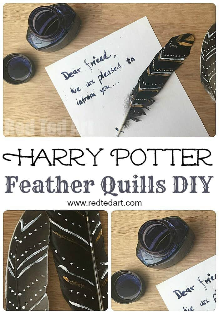 Harry Potter DIY – Feather Quills by Red Ted Art