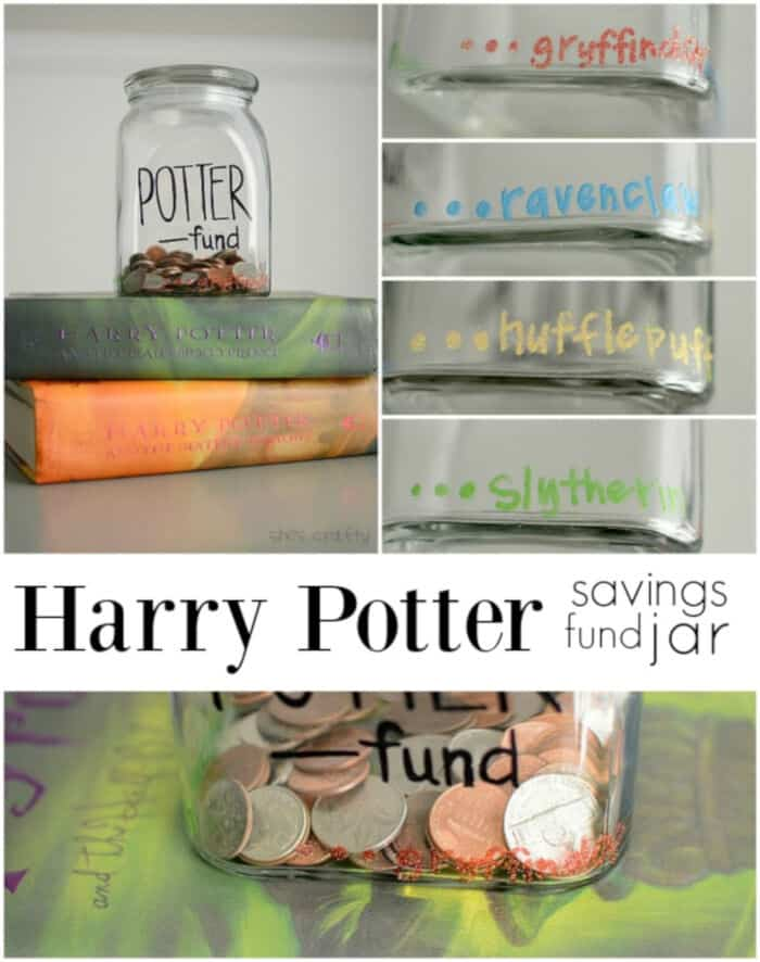Harry Potter Funds Savings Jar by Shes Crafty