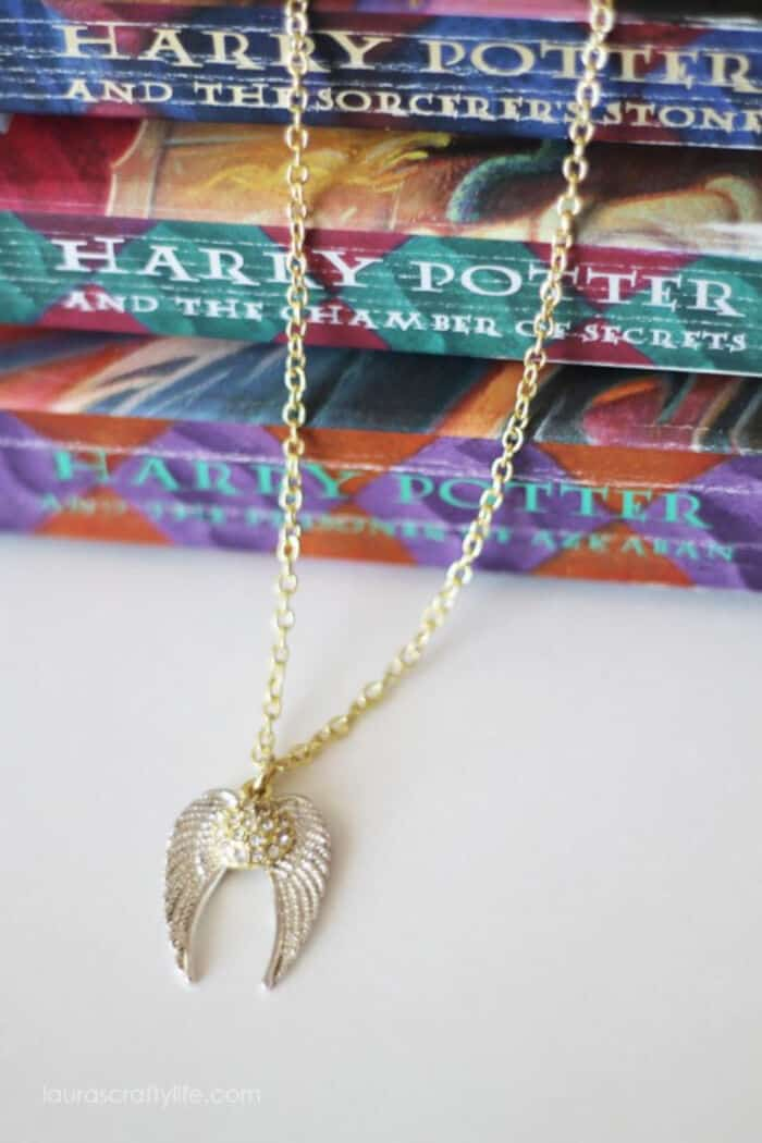 Harry Potter Golden Snitch Necklace by Lauras Crafty Life