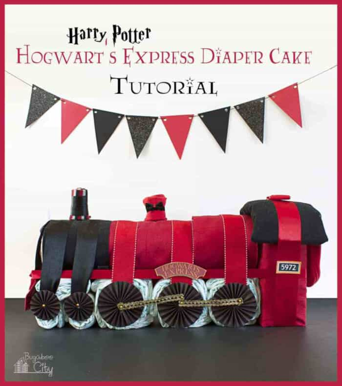 Harry Potter Hogwarts Express Diaper Cake by Bugaboo City