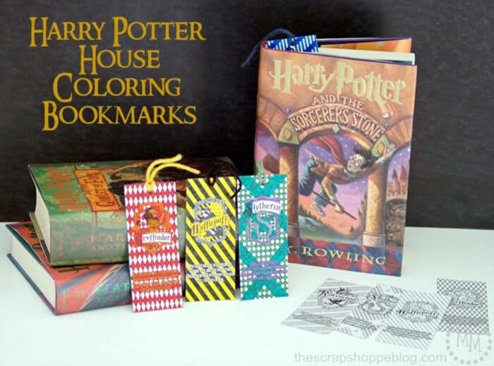 Harry Potter House Coloring Bookmarks by The Scrap Shoppe