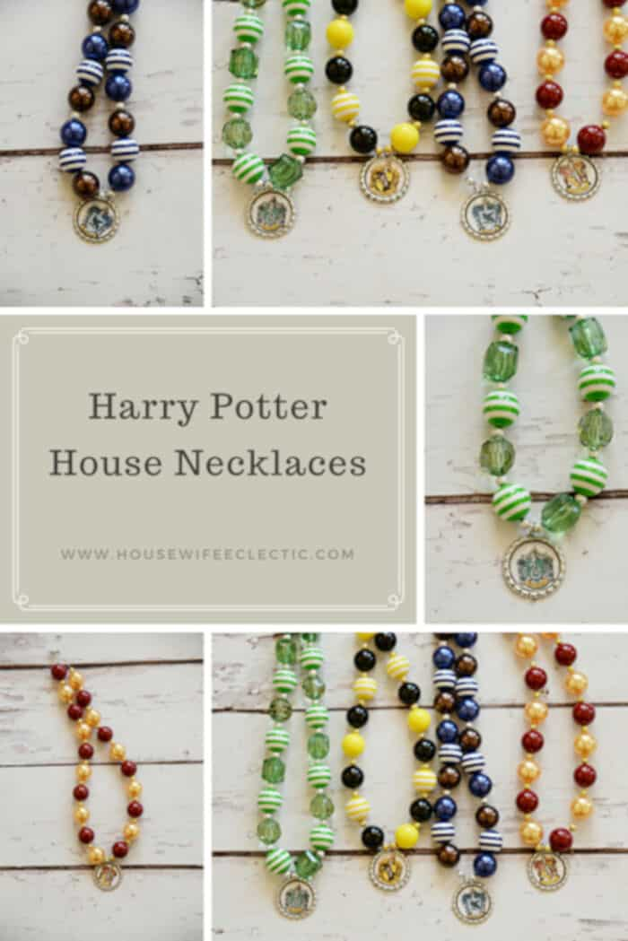 Harry Potter House Necklaces by Housewife Eclectic
