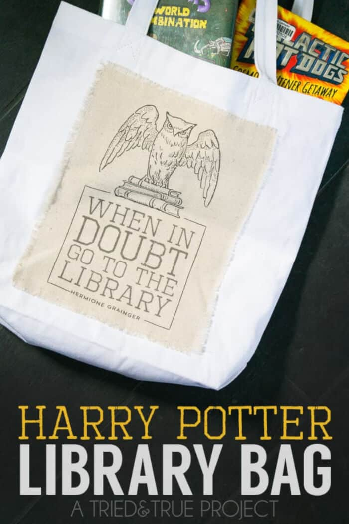 Harry Potter Library Bag by Tried and True