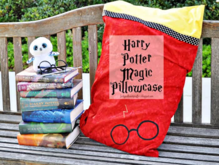 Harry Potter Magic Pillowcase by Funky Polkadot Giraffe