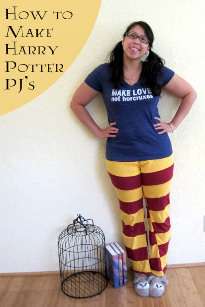 Harry Potter Pajama Pants Tutorial by Rae Gun Ramblings