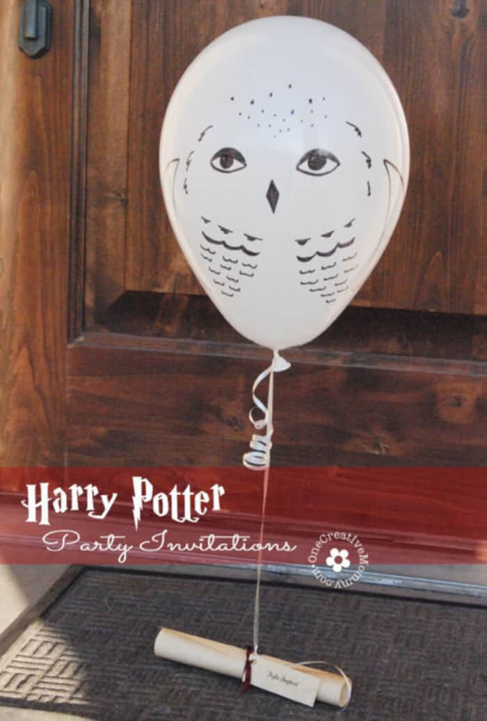 Harry Potter Party Invitations by Owl Post by One Creative Mommy