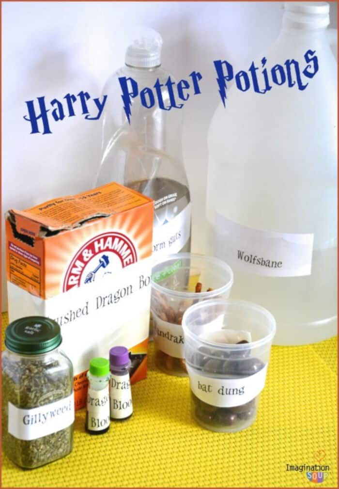 Harry Potter Potions Class Experiments by Imagination Soup
