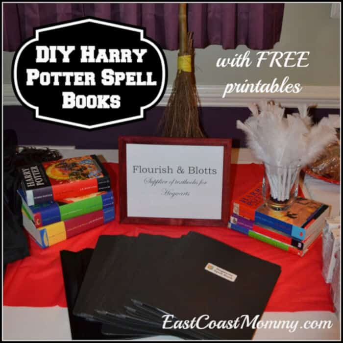 Harry Potter Spell Books and Quills by East Coast Mommy