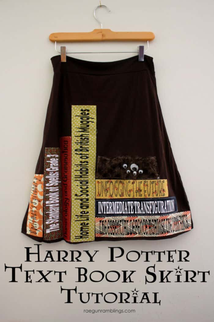 Harry Potter Text Book Skirt Tutorial by Rae Gun Ramblings