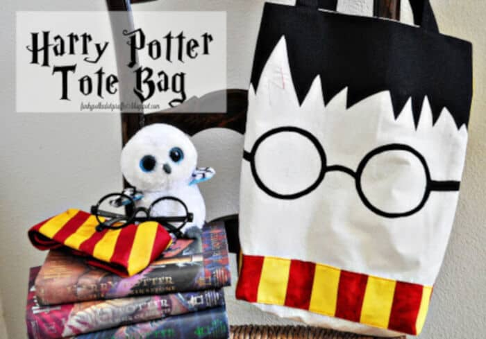 Harry Potter Tote Bag by Funky Polkadot Giraffe