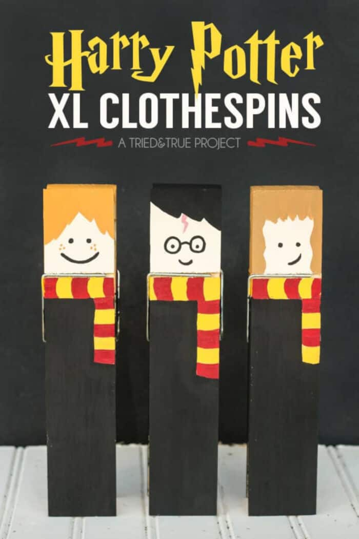 Harry Potter XL Clothespins by Tried and True