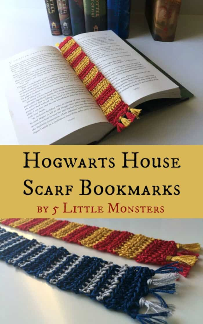 Hogwarts House Scarf Bookmarks by 5 Little Monsters