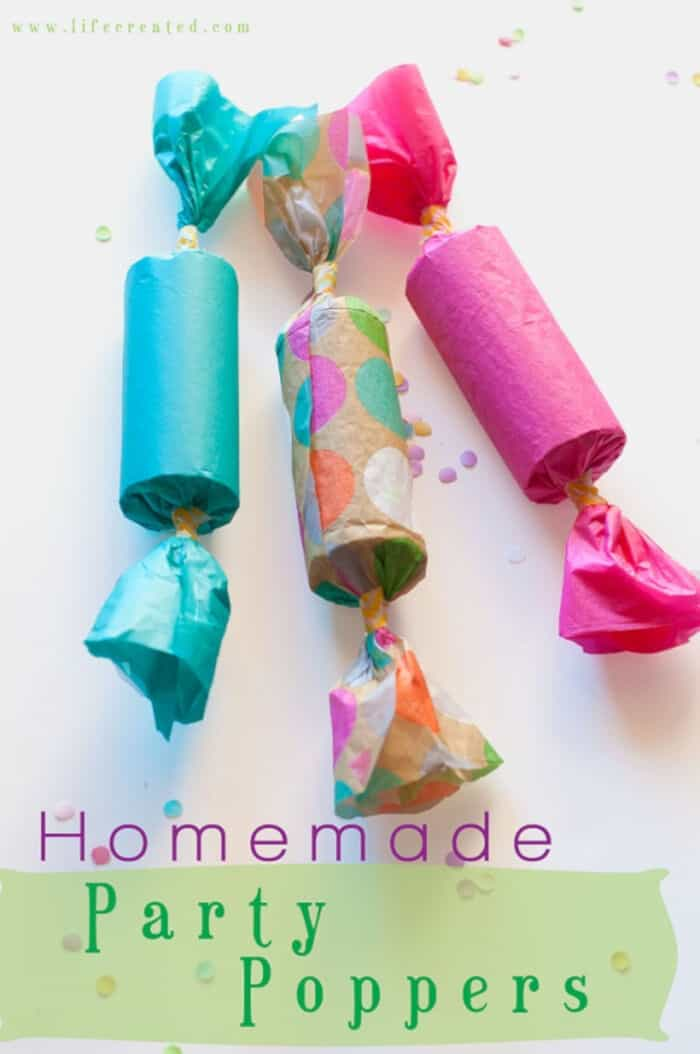 Homemade Party Poppers by Craftaholics Anonymous
