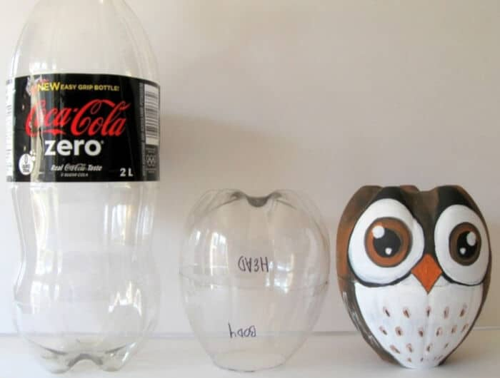 How To Turn a Plastic Bottle Into An Owl by iCreatived