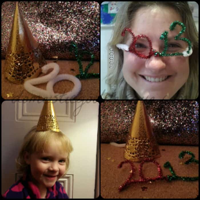 How to make a quick hat for New Years Eve by Domestic Goddesque