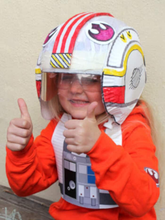 Kids DIY Star Wars X-Wing Fighter Pilots Helmet by Filth Wizardry