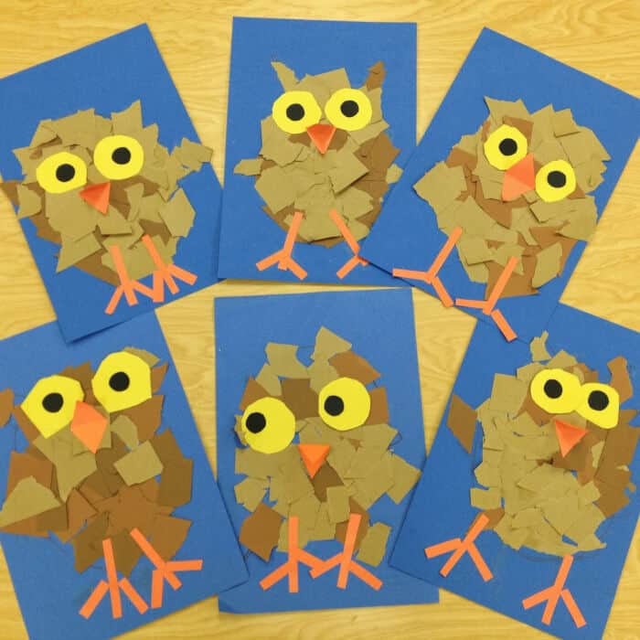 Kindergarten Owlets by Art with Mr. Giannetto