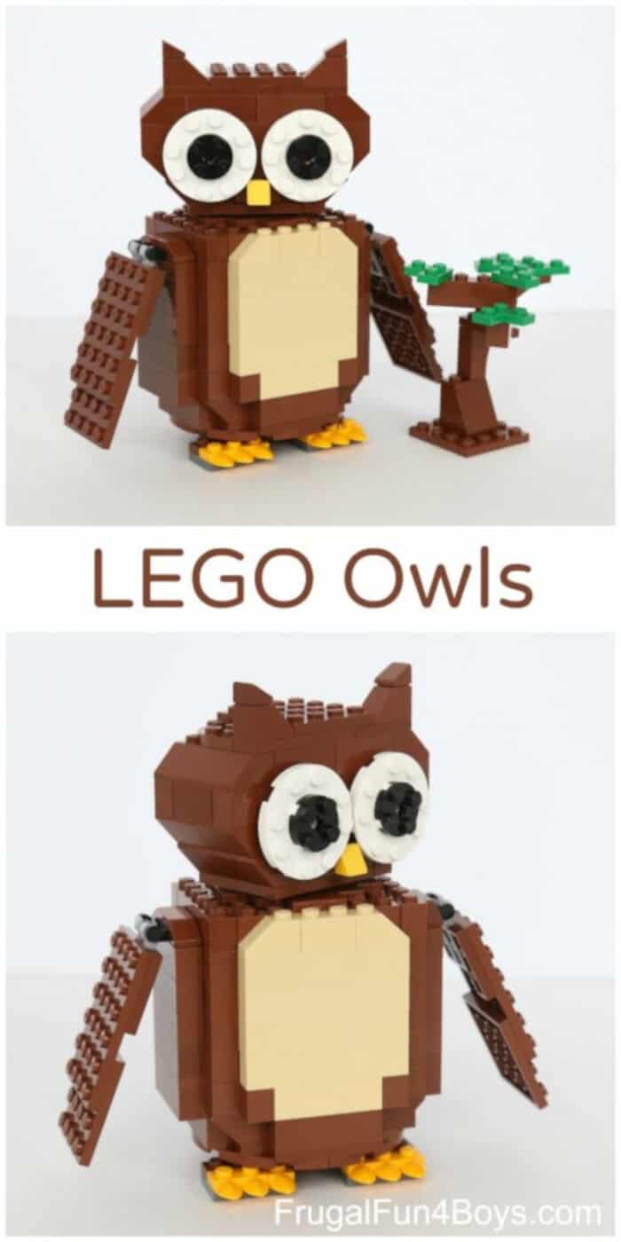 LEGO Owls by Frugal Fun For Boys and Girls