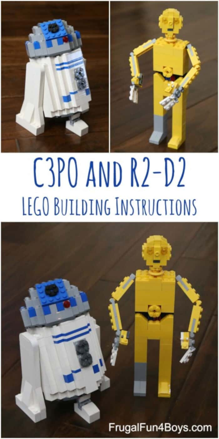 LEGO Star Wars C3PO and R2-D2 by Frugal Fun For Boys and Girls