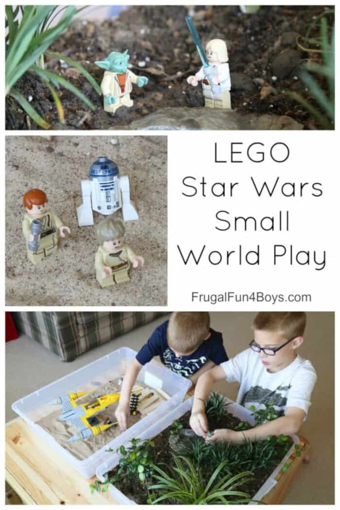 LEGO Star Wars Small World Play by Frugal Fun For Boys and Girls