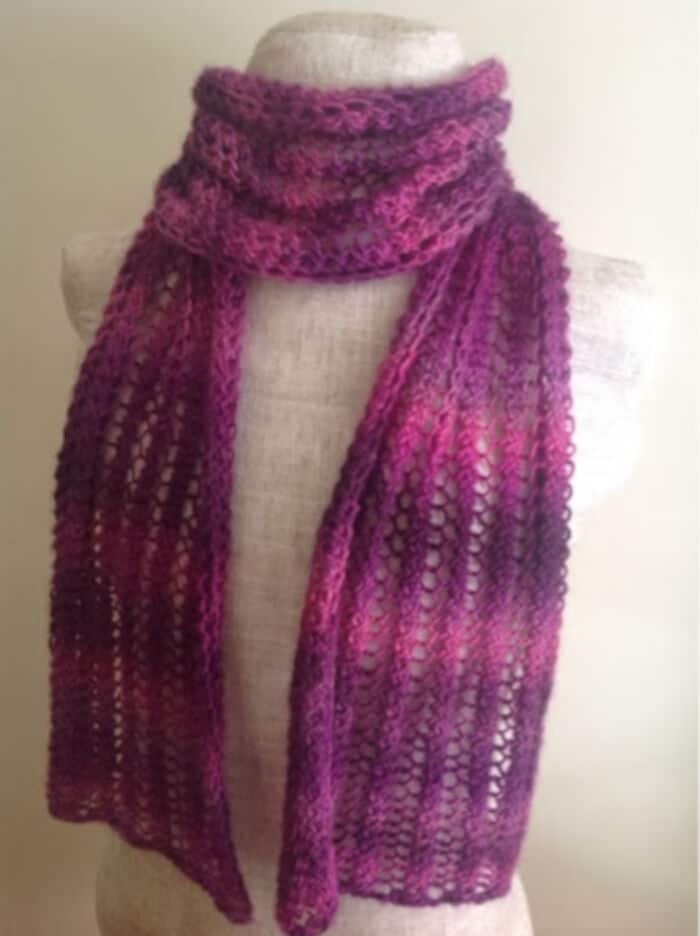 Lacy Petunia Scarf by Undeniable Glitter