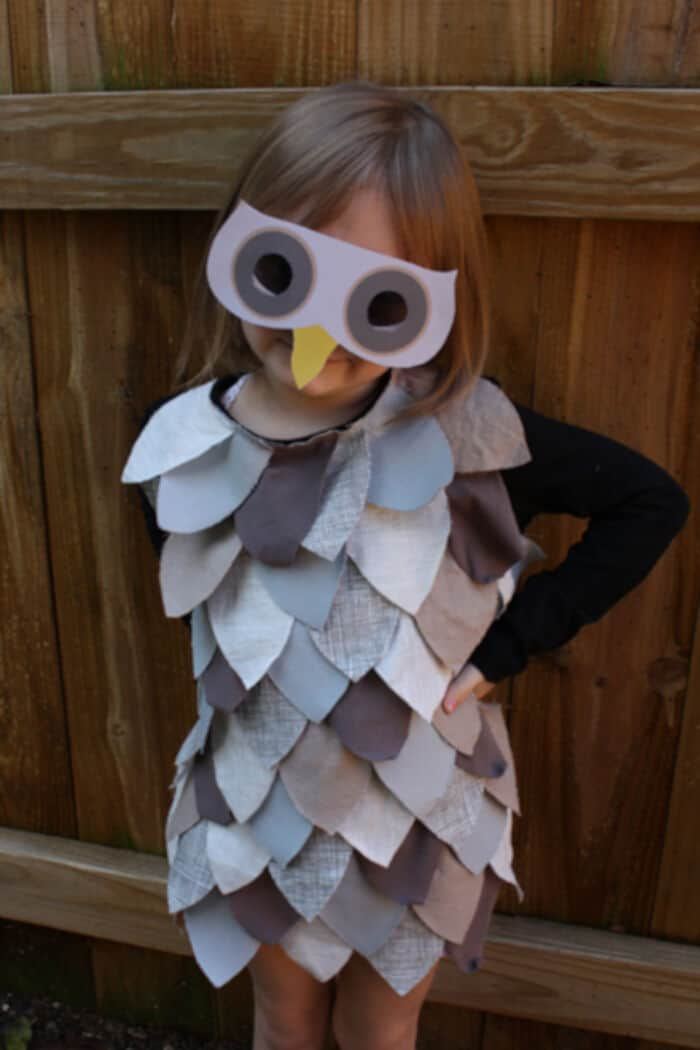 Last-Minute Kids Owl Costume by Alpha Mom