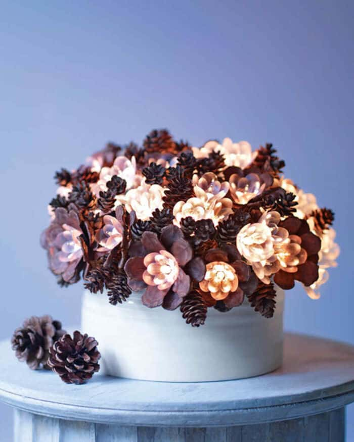 Lighted Pinecone Arrangement by Martha Stewart