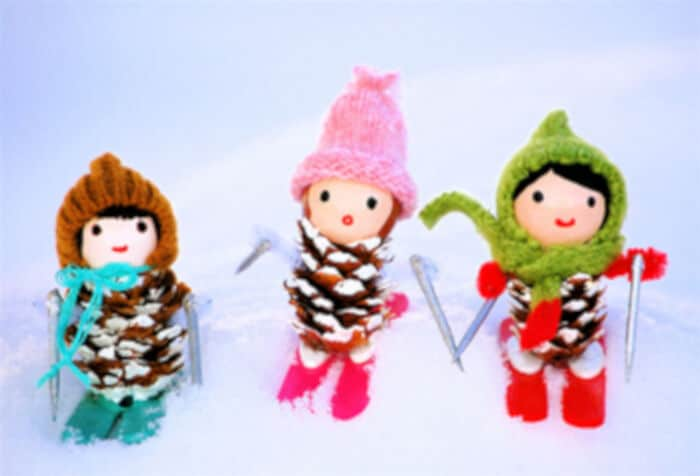 Little Miss Pine Cones Go Skiing by Bella Dia
