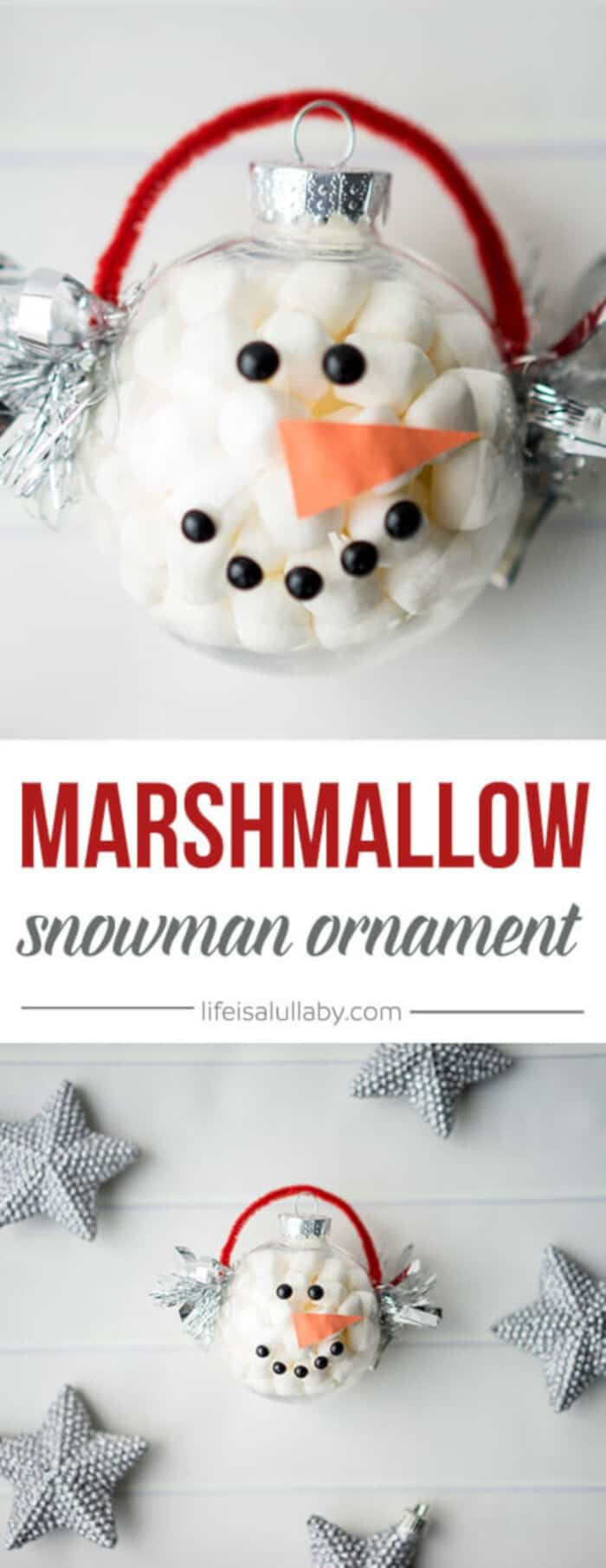 Marshmallow Snowman Ornament by The Best Ideas for Kids
