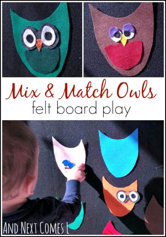 Mix and Match Owls Felt Board Play by And Next Comes L