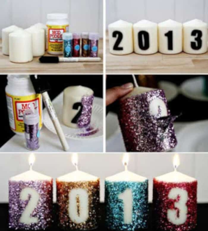 New Year Candles by Creative Party Ideas