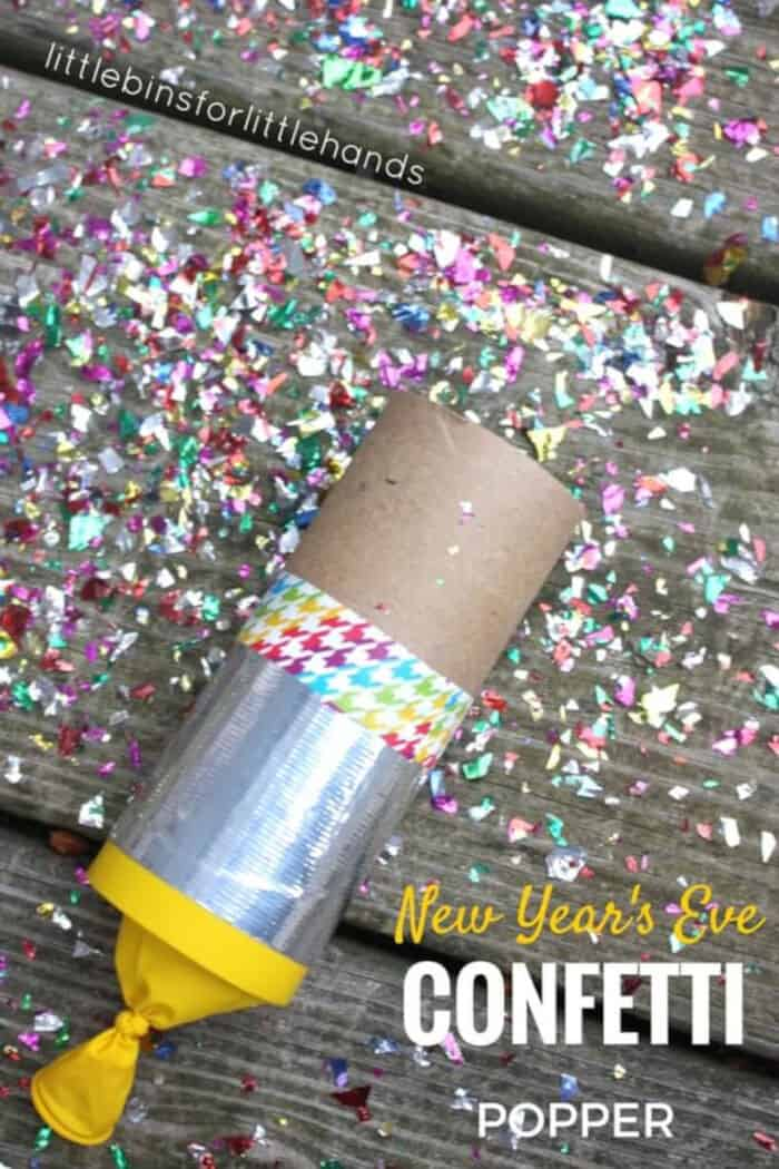 New Years Eve Confetti Popper by Little Bins for Little Hands