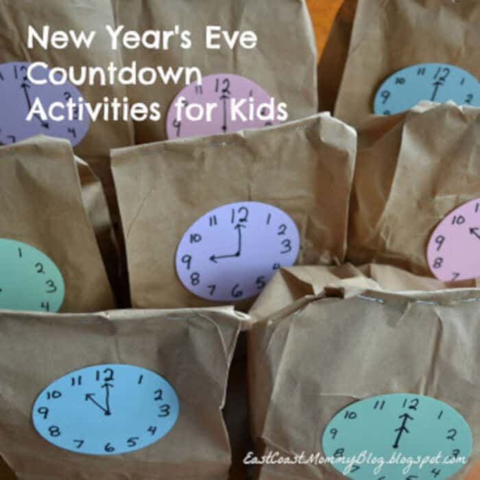 New Years Eve Countdown Activities by East Coast Mommy