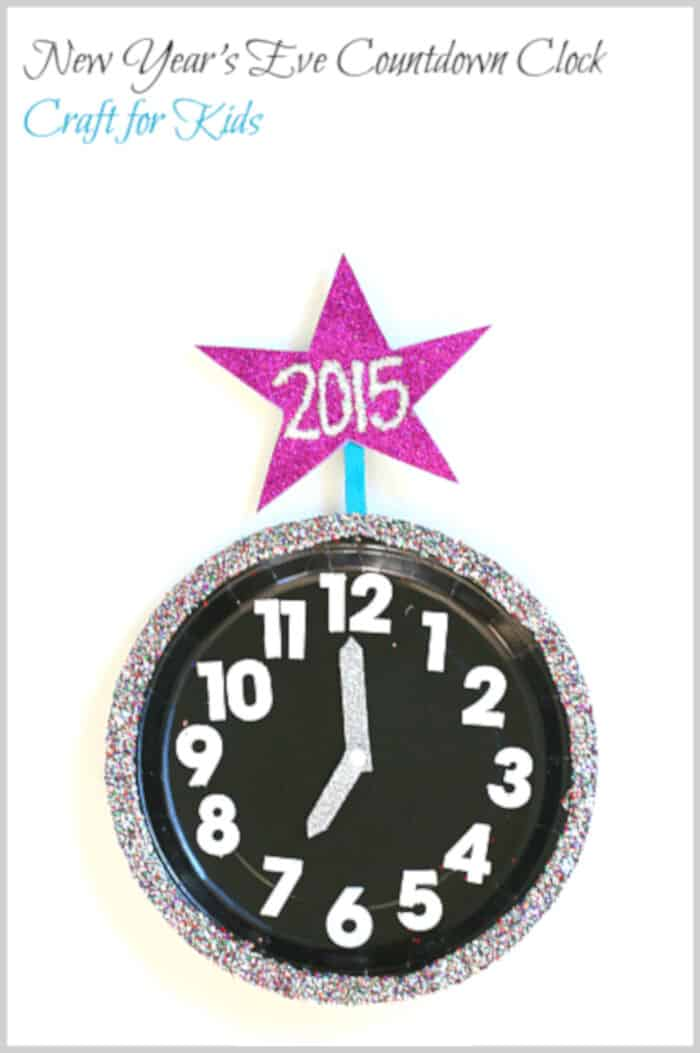 New Years Eve Countdown Clock for Kids by Buggy and Buddy