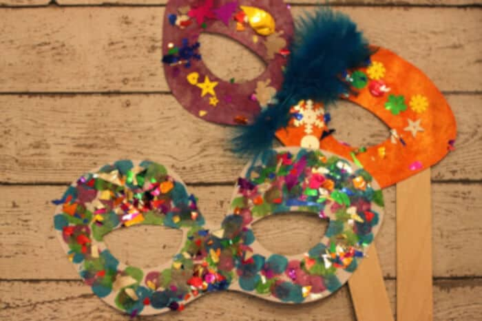 New Years Eve Party Masks by Green Owl Art
