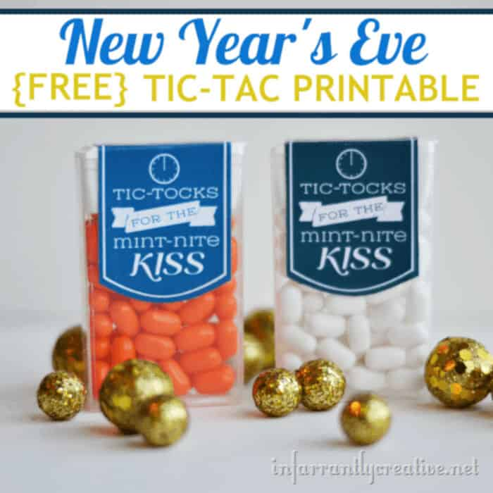 New Years Eve Printable Tic Tac by Infarrantly Creative