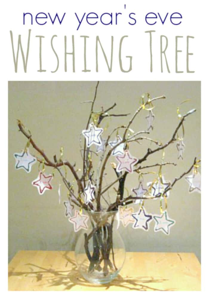 New Years Eve Wishing Tree by No Time For Flash Cards