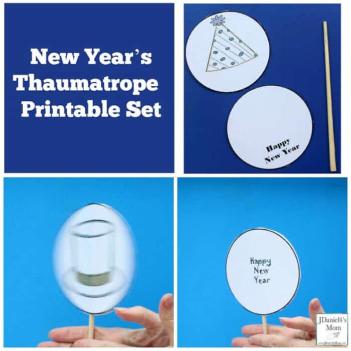 New Years Thaumatrope Printable Set by JDaniel4s Mom
