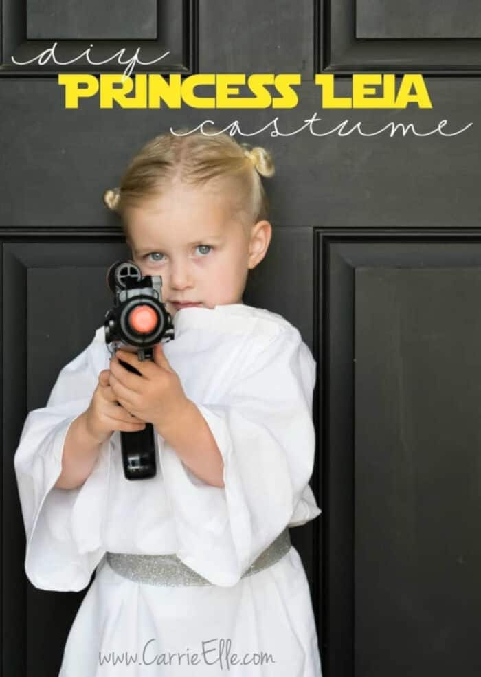 No-Sew DIY Princess Leia Costume for Kids by Carrie Elle