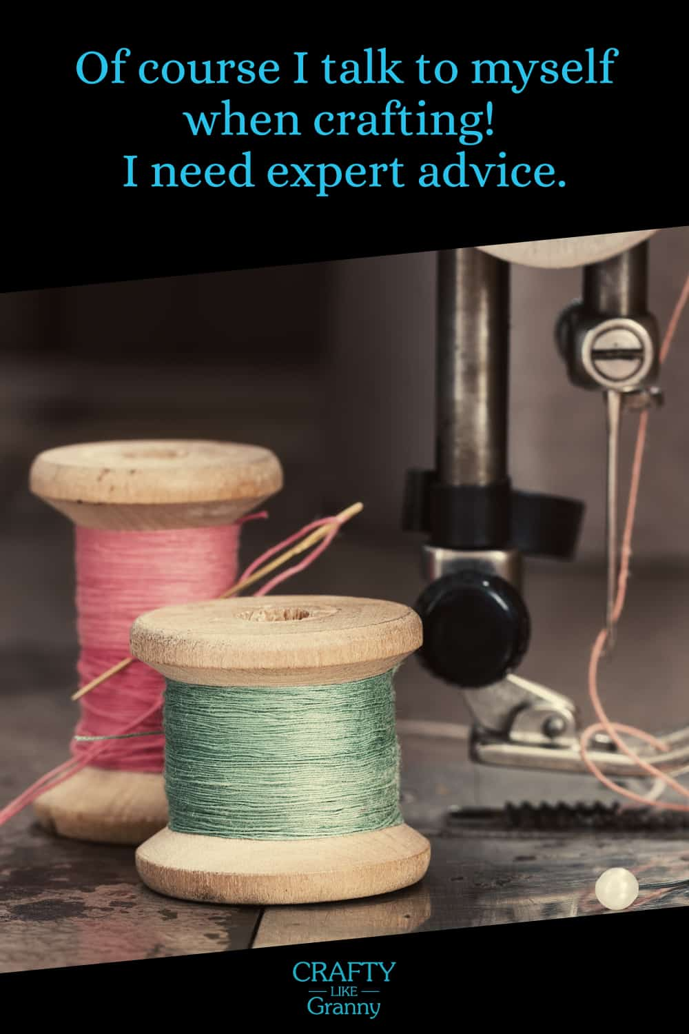 Sewing machine foot with cotton spools