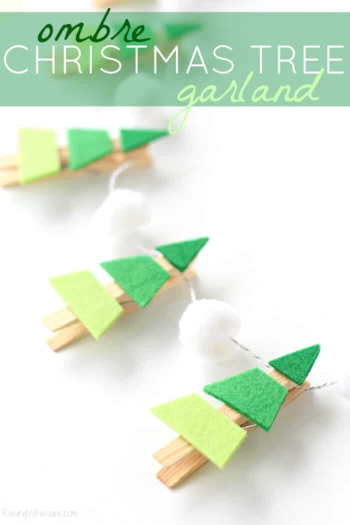 Ombre Christmas Tree Garland by Raising Whasians